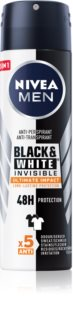 Nivea Men Invisible Black & White Antiperspirant Spray til mænd