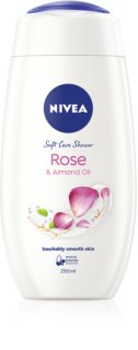 Nivea Rose & Almond Oil gel de duche suave