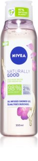Nivea Naturally Good gel de duche com óleo de argan