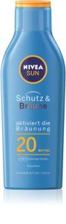 Nivea Sun Protect & Bronze leche solar intensiva SPF 20