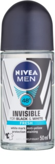 Nivea Men Invisible Black & White antitraspirante roll-on per uomo