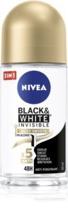 Nivea Invisible Black & White Silky Smooth Antitranspirant Deoroller ohne Alkohol