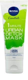 Nivea Urban Skin Detox maseczka metaliczna-oczyszczająca