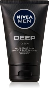 Nivea Men Deep gel detergente per viso e barba