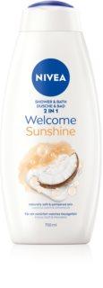 Nivea Welcome Sunshine bagno e docciaschiuma 2 in 1 maxi