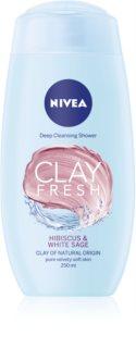 Nivea Clay Fresh Hibiscus & White Sage Suihkugeeli Saven Kanssa