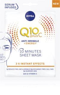 Nivea Q10 Plus C protivrásková plátýnková maska