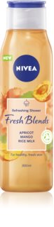 Nivea Fresh Blends Apricot & Mango & Rice Milk gel de duche refrescante