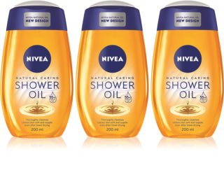 Nivea Natural Caring Shower Oil For Dry Skin