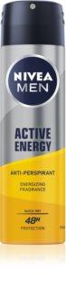 Nivea Men Active Energy Antiperspirant Spray 48 tim