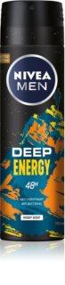 Nivea Deep Energy antitranspirante em spray para homens
