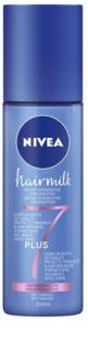 Nivea Hairmilk 7 Plus condicionador restaurador leave-in para cabelo fino