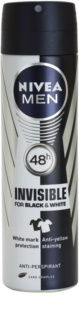 Nivea Men Invisible Black & White spray anti-perspirant pentru barbati