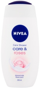 Nivea Care & Roses ухаживающий гель для душа