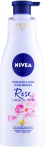 Nivea Rose & Argan Oil Bodylotion  met Olie