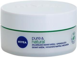Nivea Visage Pure & Natural umirujuća dnevna krema za suho lice