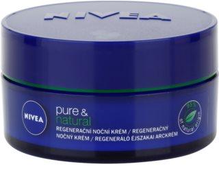 Nivea Visage Pure & Natural regenerirajuća noćna krema za sve tipove kože