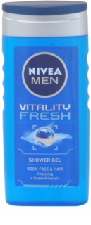 Nivea Men Vitality Fresh Duschgel für Haar und Körper
