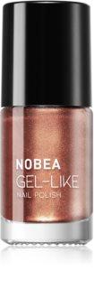 NOBEA Metal lak na nehty s gelovým efektem