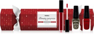 NOBEA Beauty Surprise Christmas Cracker Red kozmetika szett hölgyeknek