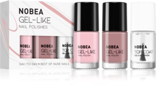 NOBEA Day-to-Day neglelaksæt Best of Nude Nails
