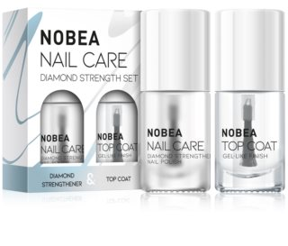 NOBEA Nail care Set mit Nagellacken Diamond strength set