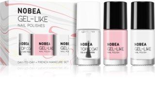 NOBEA Day-to-Day sada laků na nehty French manicure set