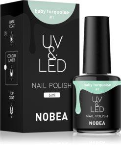 NOBEA UV & LED gelový lak na nehty s použitím UV/LED lampy lesklý