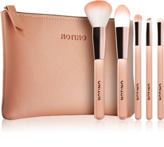Notino Glamour Collection Travel Brush Set with Pouch conjunto de pinceles de viaje con neceser para mujer