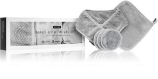 Notino Spa set za skidanje šminke od mikrofibre Grey