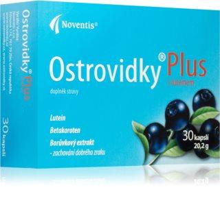 Noventis Ostrovidky Plus s luteinem doplněk stravy pro zachování kvality zraku a podporu zdraví sítnice