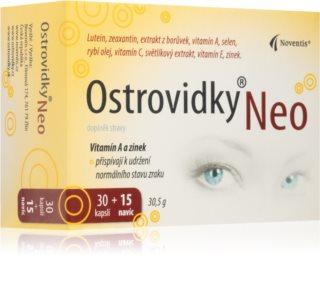 Noventis Ostrovidky Neo komplex vitamínů a minerálů pro zdravý zrak