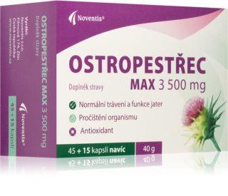 Noventis Ostropestřec Max 3500 g doplněk stravy pro detoxikaci organismu a podporu jaterní činnosti