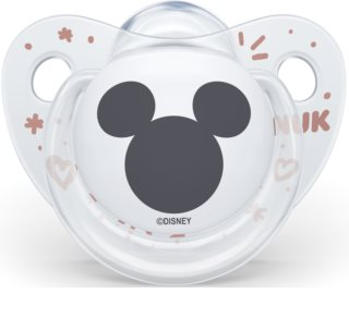 NUK Trendline Mickey Mouse 6-18 m Schnuller White
