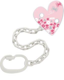 NUK Pacifier Chain Schnullerkette mit Clip Pink