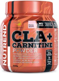 Nutrend CLA + Carnitine Powder spalovač tuků  cherry punch