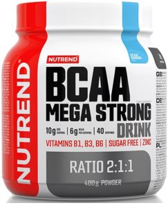 Nutrend BCAA MEGA STRONG DRINK regenerace a růst svalů  blue raspberry