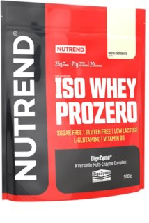 Nutrend ISO WHEY PROZERO protein v prášku příchuť white chocolate