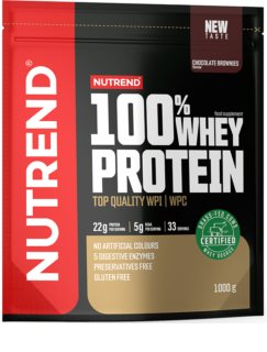Nutrend 100% WHEY PROTEIN syrovátkový protein v prášku  chocolate brownies