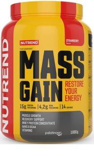 Nutrend MASS GAIN podpora tvorby svalové hmoty  strawberry