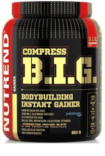 Nutrend COMPRESS B.I.G. podpora růstu svalů  strawberry