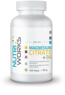Nutriworks Magnesium citrate + B6 podpora sportovního výkonu a regenerace