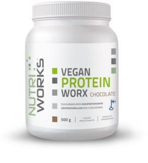 Nutriworks Vegan Protein Worx rostlinný protein v prášku příchuť chocolate