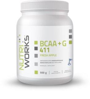 Nutriworks BCAA + Glutamin 4:1:1 regenerace svalů příchuť fresh apple