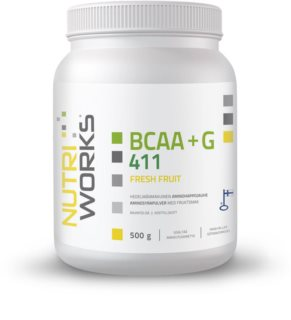 Nutriworks BCAA + Glutamin 4:1:1 regenerace svalů příchuť fresh fruit