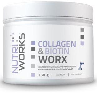 Nutriworks Collagen & Biotin Worx doplněk stravy  pro krásné vlasy, pleť a nehty
