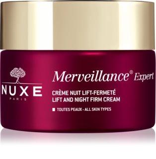 Nuxe Merveillance Expert éjszakai bőrfeszesítő krém lifting hatással