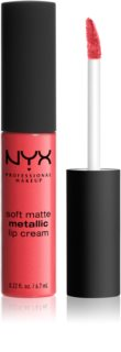 NYX Professional Makeup Soft Matte Metallic Lip Cream Flüssig-Lippenstift mit mattem Metallic-Finish