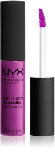 NYX Professional Makeup Soft Matte Metallic Lip Cream жидкая помада для губ с матирующим финишем металлического оттенка