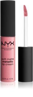 NYX Professional Makeup Soft Matte Metallic Lip Cream rossetto liquido con finish matte metallizzato